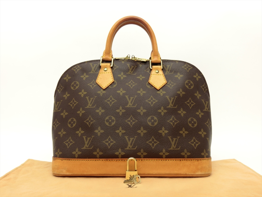 babf1a05ab47 Details about Louis Vuitton Authentic Monogram ALMA HAND Bag Purse Auth LV