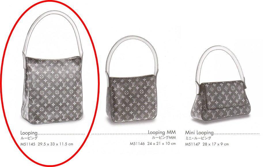 Louis Vuitton Authentic Monogram Looping Gm Tote Shoulder Bag Auth Lv Ebay